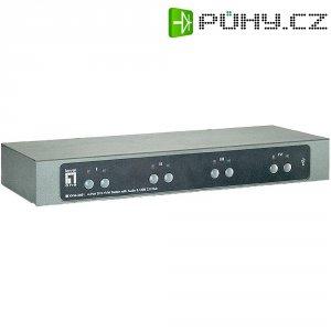 Přepínač KVM LevelOne, 4 porty, DVI, USB