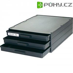 Skříňka na SMD součástky A1-4ESD/3 se 3 zásuvkami, 340 x 250 x 22 mm
