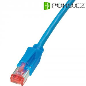 Patch kabel Dätwyler CAT 6 PiMF, 10 m, modrá