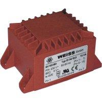 Transformátor do DPS Weiss Elektrotechnik EI 54, prim: 230 V, Sek: 6 V, 2667 mA, 16 VA