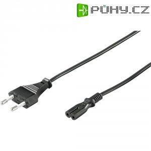 Euro síťový kabel Goobay, 85438, zástrčka euro ⇔ zásuvka C7, 3 m, černá
