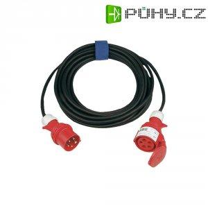 Prodlužovací CEE kabel s přepínačem fází Sirox, 25 m, 32 A, 5G 4 mm², černá
