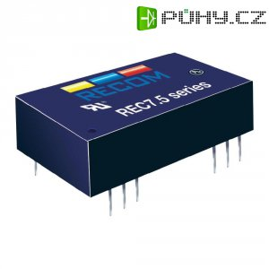 DC/DC měnič Recom REC7.5-2412SRW/H2/A/M, vstup 18-36 V/DC, výstup 12 V/DC, 625 mA