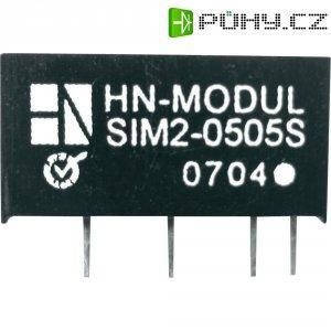 DC/DC měnič HN Power SIM2-1215D-SIL7, vstup 12 V, výstup ± 15 V, ± 66 mA, 2 W