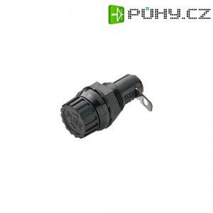 Držák pojistky rozměru 5 x 20 mm, 250 V/AC, 6,3 A, černá