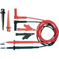 Sada měřicích kabelů banánek 4 mm ⇔ měřící hrot MultiContact Z4S-250, 1 m, černá/červená