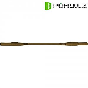 Měřicí silikonový kabel banánek 4 mm ⇔ banánek 4 mm MultiContact XMF-419, 1 m, hnědá