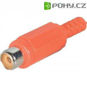 Cinch konektor BKL Electronic 072210/T Pólů: 2, zásuvka, rovná, červená, 1 ks