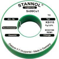 Cínová pájka PBF Sn99Cu1, Ø 0,5 mm, 100 g, Stannol KS115