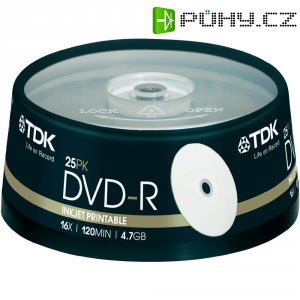 TDK DVD-R 4,7GB 16X 25 ks SP PRINT
