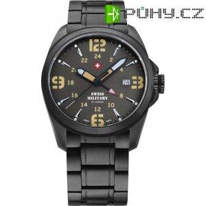 Ručičkové náramkové hodinky Swiss Military, 29000BPL-8M, pánské, pásek z nerezové oceli