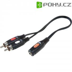 Připojovací kabel SpeaKa, 2xcinch zástr./jack zás. 3.5 mm, 1,5 m