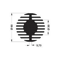LED chladič Fischer Elektronik SK 578 15 ME 10104067, 2.61 K/W, (Ø x v) 60 mm x 15 mm