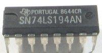 74LS194 4-bit. vratný posuvný registr, DIL16 /SN74LS194AN/ 74194