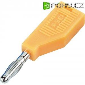 Banánkový konektor SCI R8-B19 Y Ø pin: 4 mm, zástrčka, rovná, žlutá, 1 ks