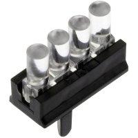 Miniaturní vícenásobný světlovod, stojící. Mentor 1296.4004 vhodný pro: SMD LED 0805 4násobný (1 řada) Ø 2mm