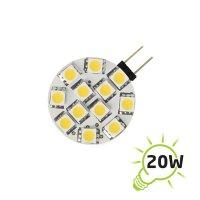 LED žárovka | G4 | 12 SMD 5050 | 1.8W | 12V | teplá bílá