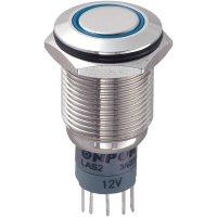 Tlačítkový spínač antivandal TRU Components LAS2GQF-11ZE/B/12V/N/P, 250 V/AC, 3 A, 1 ks