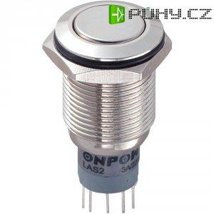 Tlačítkový spínač antivandal s aretací TRU COMPONENTS LAS2GQF-22Z/N/P, 250 V/AC, 3 A, mosaz, 2x zap/zap