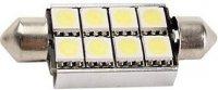 Žárovka LED SV8,5-8 sufit, 10-14V,bílá,CAN-BUS, délka 41mm