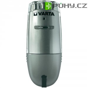 Akumulátorová kapesní LED svítilna Varta Direct Plug, 17682101401, 230 V/50 Hz, stříbrná