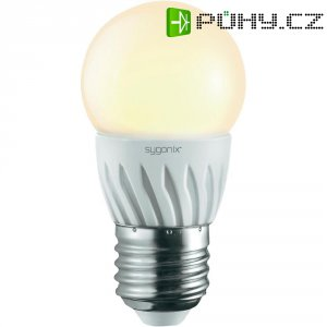 LED žárovka Sygonix, E27, 3 W, 230 V, 86 mm, teplá bílá