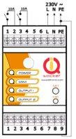 GSM spínač na DIN lištu s vestavěným akumulátorem na minimálně 12hodin provozu