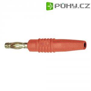 Lamelový konektor Ø 4 mm MultiContact 22.2648-22, zástrčka rovná, červená