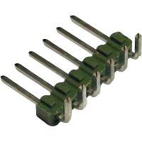 Kolíková lišta MOD II TE Connectivity 826631-5, úhlová, 2,54 mm, zelená