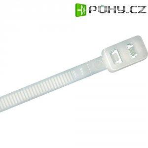 Stahovací rozepínací pásek s dvojitou pojistkou KSS RDCV370, 370 x 4,8 mm, přírodní