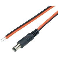 Napájecí kabel zástrčka / otevřený konec BKL 072016, rovná, 5,5/2,1 mm, 2 m, červená/černá