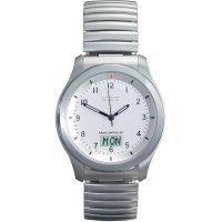 Ručičkové náramkové DCF hodinky Eurochron EFAU 1500 Serie, pásek z nerezové oceli