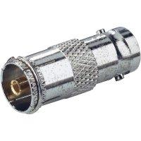 Adaptér BNC zásuvka ⇔ koaxiální zásuvka, 75 Ω