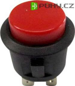 Tlačítkový spínač R13-527B-02 červený