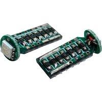 SMD LED žárovka Eufab T10, 13521, 3 W, W2.1x9.5d, modrá, 2 ks