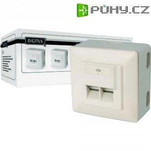 Síťová zásuvka pro povrchovou montáž 2x port, Digitus DN-9002-N