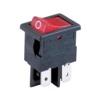 Kolébkový spínač Arcolectric H 8553 VB NAG, 2x vyp/zap, 230 V/AC, 10 A, červená/černá
