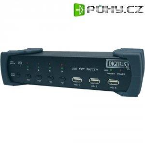 Přepínač KVM Digitus DC-12201 se 4 porty