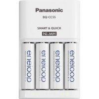 Nabíječka Panasonic MQR06, PLG-MQR06-E-4-3UTGB + 4x eneloop AA