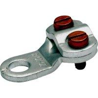 Kulaté kabelové oko Klauke 572R6 572R6, průřez 10 mm², průměr otvoru 6.5 mm, 2 šrouby, bez izolace, kov, 1 ks