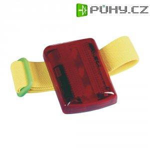 Bezpečnostní blikačka s neonově žlutým páskem, červená