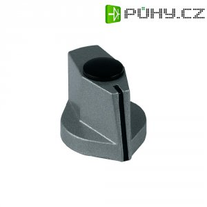 Hliníkový otočný knoflík Mentor 499.60, 6 mm, metalická černá