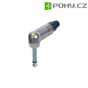 Jack konektor 6,35 mm mono Neutrik NP 2 RX, zástrčka úhlová, 4 - 7 mm, 2pól., stříbrná