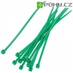 Stahovací pásky KSS PBR-100-4GN, 100 x 2,2 mm, 100 ks, zelená