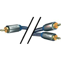 Kabel vidlice cinch ⇒ 2x vidlice cinch, 3 m, modrý, Inakustik