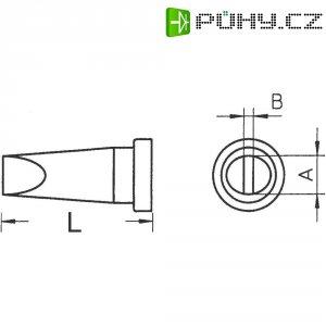 Pájecí hrot Weller LT-B, dlátový, rovný, 2,4 mm