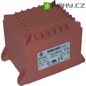 Transformátor do DPS Weiss Elektrotechnik EI 66, prim: 230 V, Sek: 15 V, 3,34 A, 50 VA