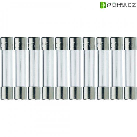 Jemná pojistka ESKA rychlá 525614, 250 V, 0,5 A, skleněná trubice, 5 mm x 25 mm, 10 ks - Kliknutím na obrázek zavřete