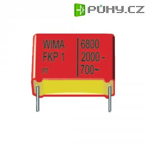 Foliový kondenzátor FKP Wima, 6800 pF, 2000 V, 10 %, 26,5 x 10,5 x 20,5 mm