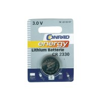 Knoflíková baterie Conrad energy CR2330, lithium